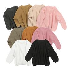 Kaiya Angel jesień zima dzieci miękkie ciepłe swetry dziewczynek ubrania dziergany sweter swetry stroje sweter 3M-5T hurtownie tanie tanio CN (pochodzenie) COTTON Na co dzień Stałe REGULAR O-neck Dziewczyny KY-SY-120 Pełna NONE Pasuje prawda na wymiar weź swój normalny rozmiar