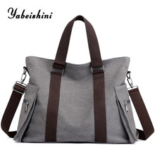 цена New Women's canvas Shopping Bag luxury brand handbags women bags designer Messenger Bags sac a main travel bag lady shoulder bag в интернет-магазинах