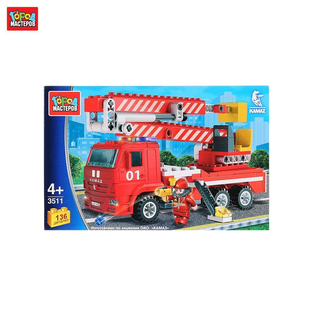 Blocks GOROD MASTEROV 261783 designer city masters for children prefabricated model toy for boys plastic parts constructor block developing