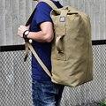 Militaire tactique sac à dos mâle multifonctionnel toile sacs à dos grande capacité seau Sport armée sac voyage sac à dos XA208WD