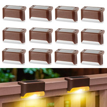 Solar Lights Solar Step Lights Outdoor Waterproof Led Solar Power Garden Light Lamp decoration for Patio Stair Garden Yard Fence