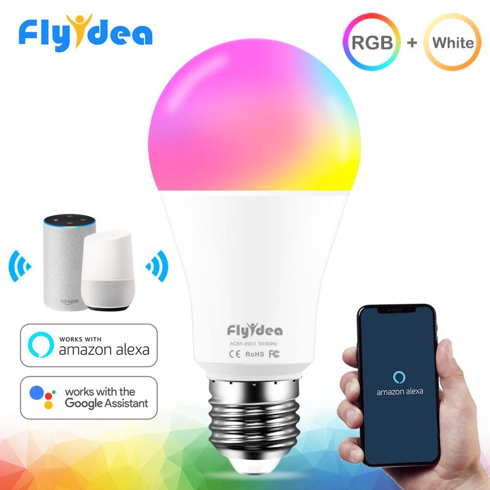 12W Smart WiFi Light Bulb Equal 80W E27 LED Bulb 220V 110V RGB White Magic Lamp Smart Home Wake-Up Lights With Alexa Google Home