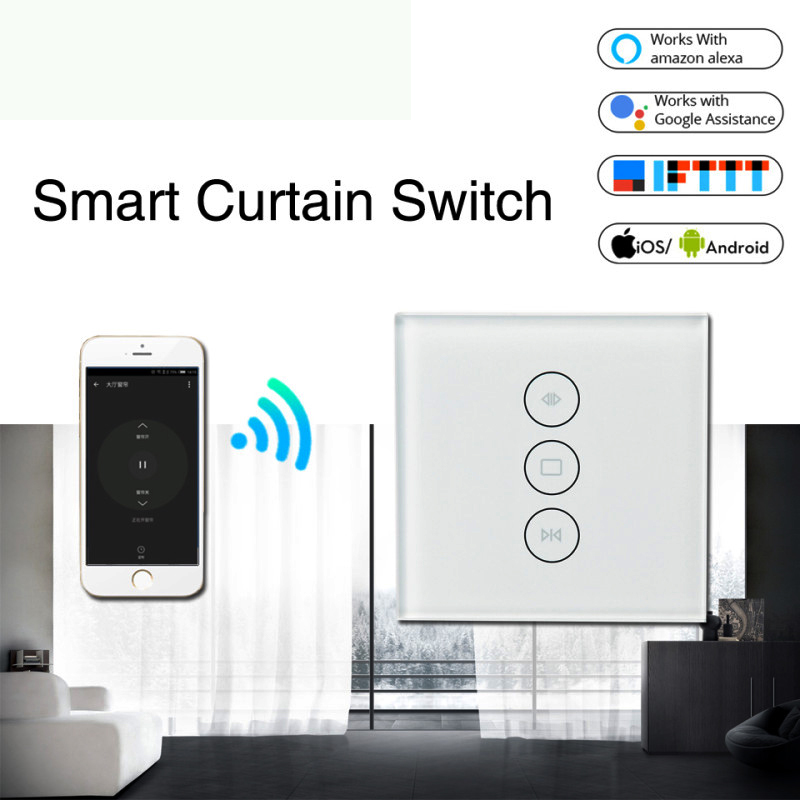 Tuya Smart Life WiFi Curtain Switch Electric Motorized Curtain Blind Roller Shutter Works With Google Home Amazon Alexa IFTTT