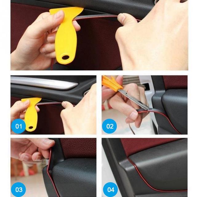 5m Car Style Interior Trim With Decorative Molding Fascia Dashboard Door Edge Universal Car accessories Car Interior Accessories Uncategorized Car Electronic & GPS Consumer Electronics Electronics