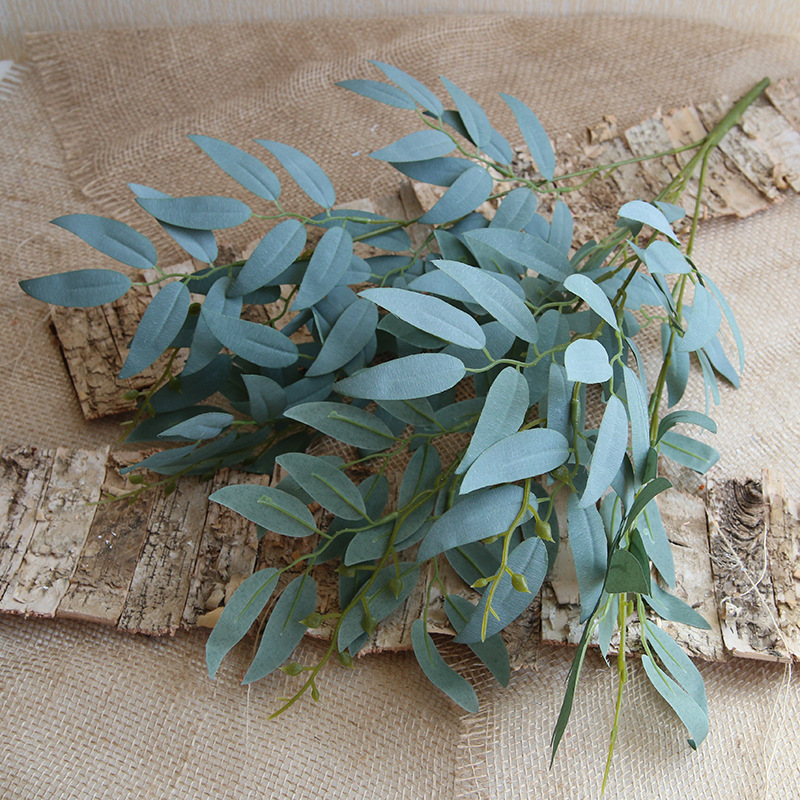 High-end Non-dropping Willow Leaves, Duck Paws, Apple Leaf Colors, A Variety of Artificial Green Plants, Fake Flowers Plant Leaf