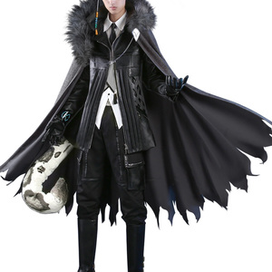 Image 5 - Anime! Arknights SilverAsh Game Handsome Gothic Leather Uniform Cosplay Costume Full Set Halloween Suit For Men Free Shipping