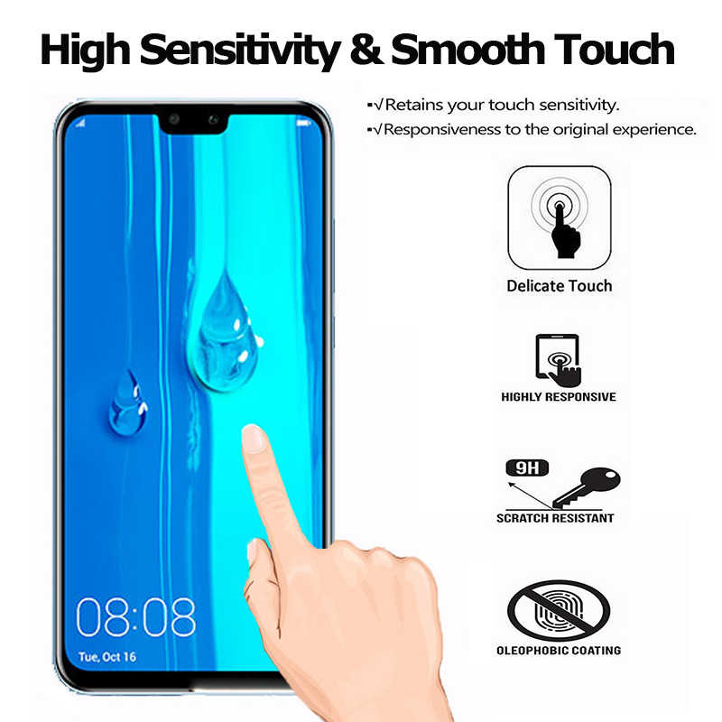 2-in-1 Screen Protector for Huawei Y9 2019 Y5 2018 Tempered Glass Film for Huawei Y9 Prime 2019 Camera Lens Huawei Y9 2019 Glass