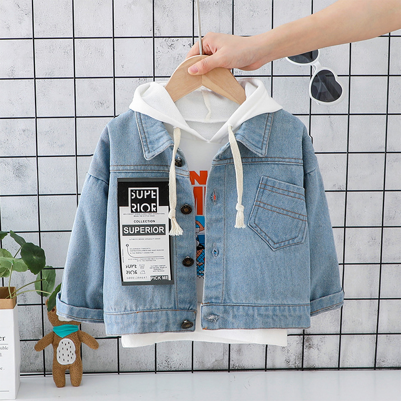 Denim Jackets Baby Girls Clothing Boys Coats Autumn Trench Jean Jackets Kids Clothes Baby Coat Casual Outerwear Windbreaker