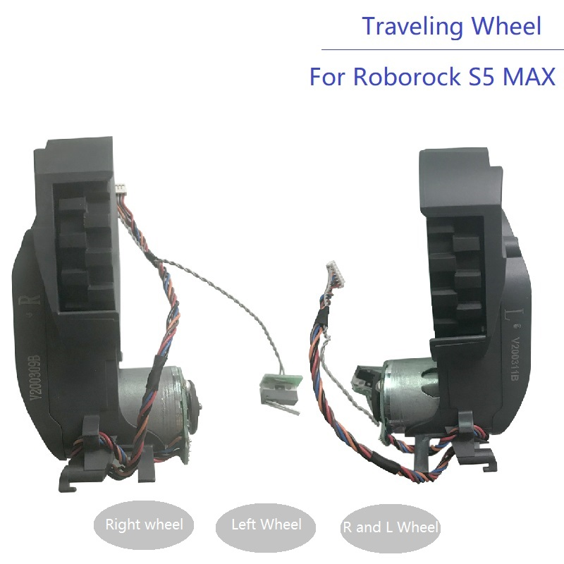 New Vacuum Cleaner Part Wheel For Roborock S5 MAX Accessories S50 MAX S55 MAX Spare Parts Right And Left Traveling Wheel