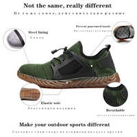 Hiking Steel Shoes Hard Toe Safety Breathable Outdoor Men Non slip Work Prevent Iron Filings Large Boots Big Size 48 47 46 45 44