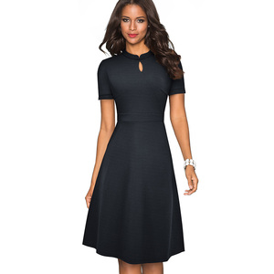 Image 3 - 니스 영원히 여름 빈티지 우아한 순수 컬러 vestidos a 라인 레트로 여자 드레스 A199