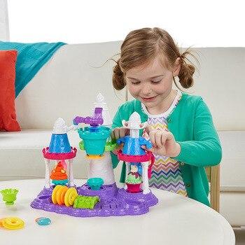 Hasbro play-doh couleur argile crème glacée château ensemble B5523 Plasticene GIRL'S bricolage jouet pour enfants