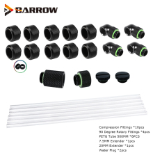 Water-Cooling Fittings Liquid-Loop-Kit Barrow Hard-Tube PETG Computer with 6pcs 10x14mm/12x16mm-Upgrade