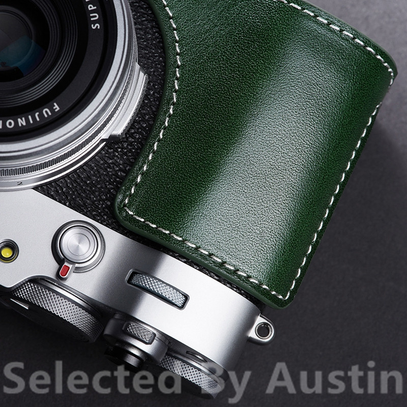 Leather Half Camera Case Bag Cover Base For Fuji X100V Fujifilm Hand Made Leather Case