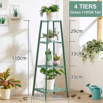4 Layers Simplicity Wood Stand For Plants Landing Type Light Extravagant Multi-storey Shelf Indoor Flowerpot Frame Flower Stand 8