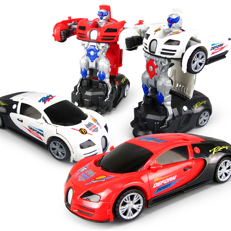 <font><b>Electronic</b></font> Deformation Music <font><b>Car</b></font> <font><b>Toys</b></font> Cool Light Transformer Robot <font><b>Car</b></font> <font><b>Toys</b></font> Univeral Wheel Glowing Kids Children Gift image