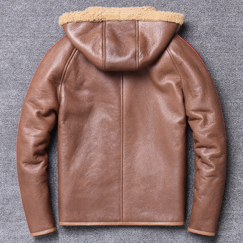 Image 4 - Free shipping,Winter Sheep fur coat,Natural wool Shearling,thick warm leather jacket,mens sheepskin coat.plus size jackets.Genuine Leather Coats   -