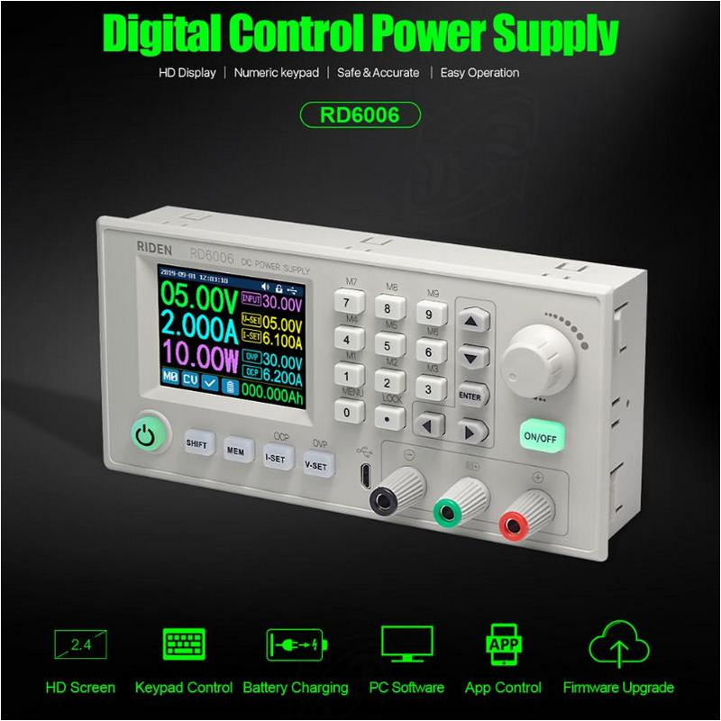new-power-supply-rd6006-rd6006w-usb-wifi-60v-6a-dc-dc-voltage-current-step-down-module-buck-voltage-converter-voltmeter