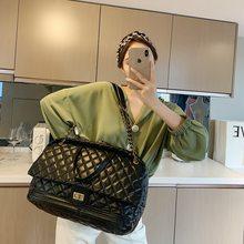 Gitter Große Tote tasche 2020 Neue Hohe qualität PU Leder frauen Designer Handtasche Hohe kapazität Schulter Messenger Tasche Reise tasche