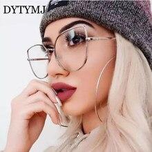 DYTYMJ De oro De lujo gafas De gafas ópticas marco plano espejo gafas De Marco mujeres De Monturas De Lentes Mujer