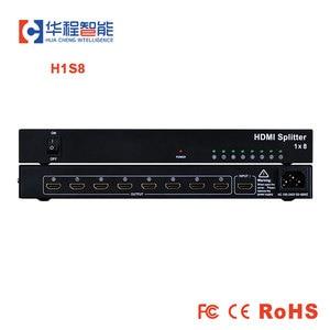 Image 1 - 1x8 hdmi répartiteur AMS H1S8 prise en charge 1080p 3D 4K HD résolution comme dtech DT 7148 dans dicolor led location écran rétro éclairé