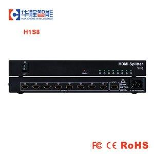 Image 1 - 1x8 hdmi splitter AMS H1S8 support 1080p 3D 4K HD resolution like dtech DT 7148 in dicolor led rental backlit display