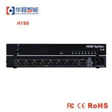 1x8 rozdzielacz hdmi AMS H1S8 obsługa rozdzielczości 1080p 3D 4K HD jak DT 7148 dtech w dicolor led wynajem podświetlany wyświetlacz