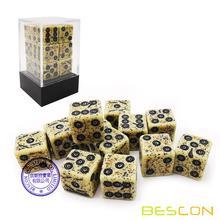 Старые кости Bescon D6, 16 мм, 12 шт. в наборе, 16 мм, шестигранные кубики (12), каменные кости