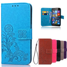 Amazing Case For Microsoft Lumia 535 Leather Wallet Flip Cover Case For Nokia Lumia 535 Silicone phone case with Card Slots(China)