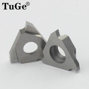 Токарный станок TuGe, токарные инструменты, твердосплавные вставки, треугольное режущее лезвие TGF32R для дерева, алюминия, канавок 0,5 мм 1 мм 1,5 м...