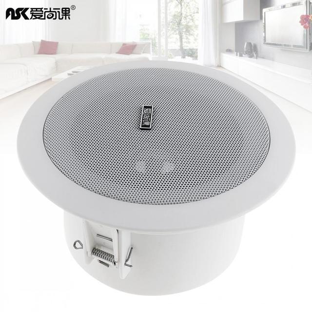 4.5 Inch 3/6W Fashion Waterproof Household Embedded Radio Ceiling Speaker Public Broadcast Background Music Loudspeaker for Home