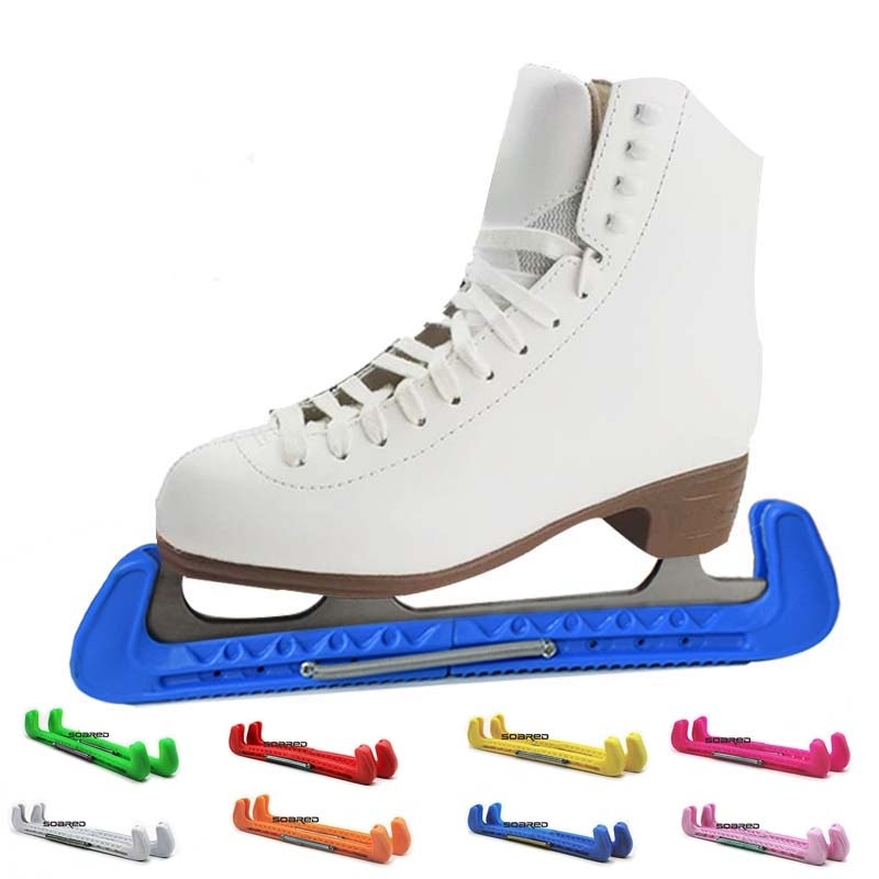 Skate Shoes Cover durable Protective Blade Guard Protector With Adjustable Spring For Ice Hockey Skating   - title=