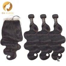 Dollface бразильские объемные волнистые волосы с кружевной застежкой remy волосы для наращивания 3 человеческие волосы пряди с закрытием