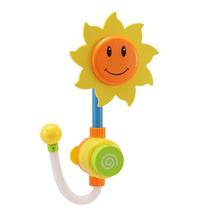 Głowica prysznicowa wanienka do kąpieli zabawka fontanna zestaw do zabawy w wodzie dzieci słonecznik kran Spray kąpiel przenośny interaktywny prezent tanie tanio JOCESTYLE CN (pochodzenie) Z tworzywa sztucznego Sunflower Faucet Piasek narzędzie do gry 5-7 lat