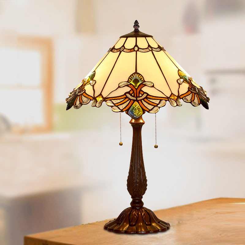 Stained Gl Art Deco Lamp Baroque