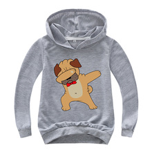 7 Colors Dabbing Pug Hoodies Cute Funny Dog Dab Cotton Girls Hoodie Fashion Panda/Pug Cat Cartoon Printed Hip Hop Top Sweatshirt цена