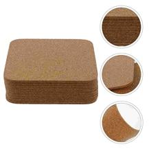 10pcs Anti-slip Coaster Tabletop Cup Pad Heat Insulation Simple Cup Mat