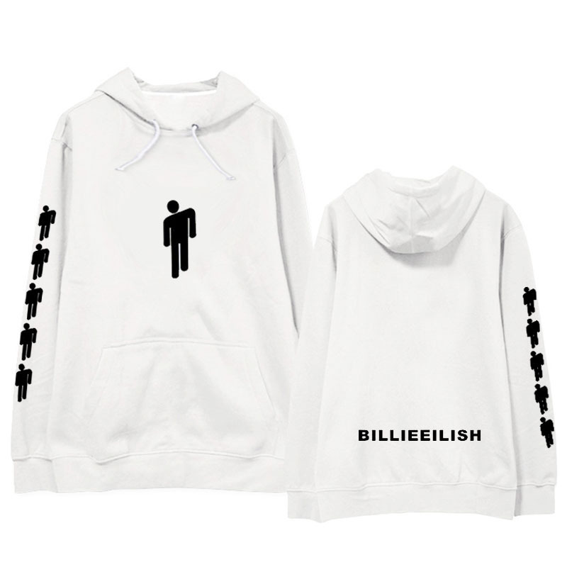 New Arrival Hot Sale Hoodies Printed American Singer Billie Eilish Hoodie Unisex Harajuku Hip Hop Billie Eilish Sweatshirt Coat