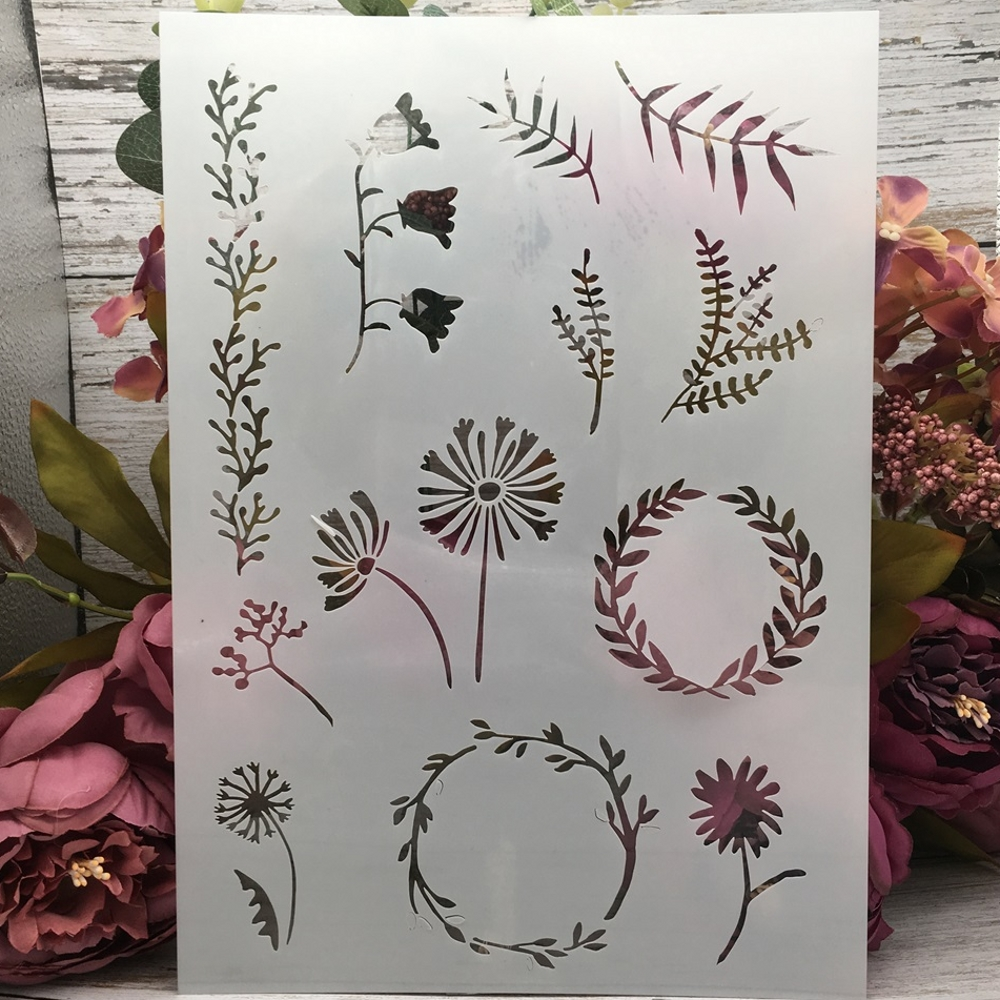 29*21cm A4 Grass Garland DIY Layering Stencils Wall Painting Scrapbook Coloring Embossing Album Decorative Template