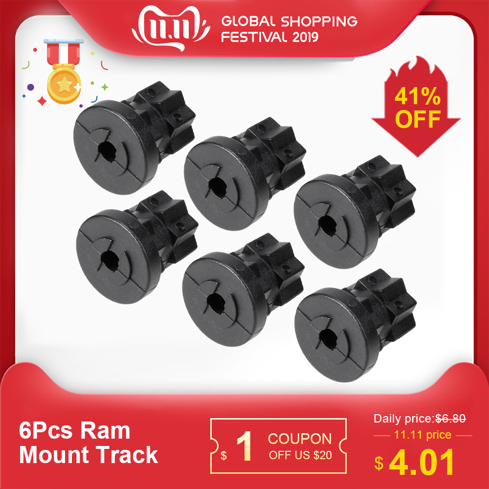 6Pcs Ram Mount Track Mounting Base Track Gear Adapter Kayak Track Mount For Boat Fishing Rod Kayak Track Mount Kayak Accessories