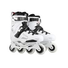 Sneaker Roller-Skates Skating Inline-Roller Professional Adult White Black Comfortable