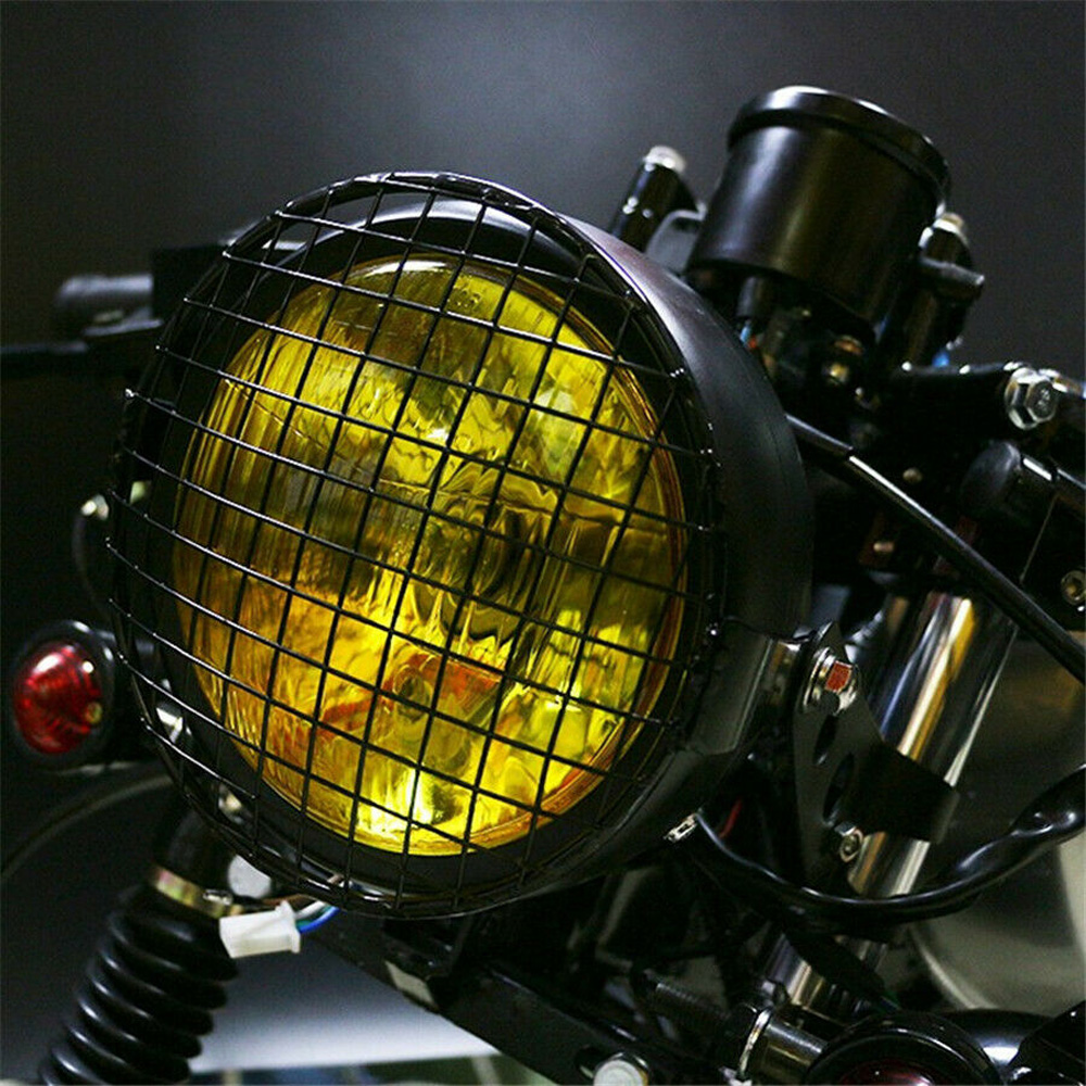 1pc New Headlight Cover Universal 7 Inch Motorcycle Grille Cover Protector Sale