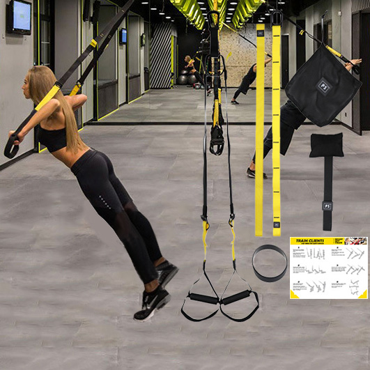 Hanging Belt Training Gym Home Workout Suspension Exercise Stretching Elastic Straps Fitness Bands Banda Resistencia Fitness