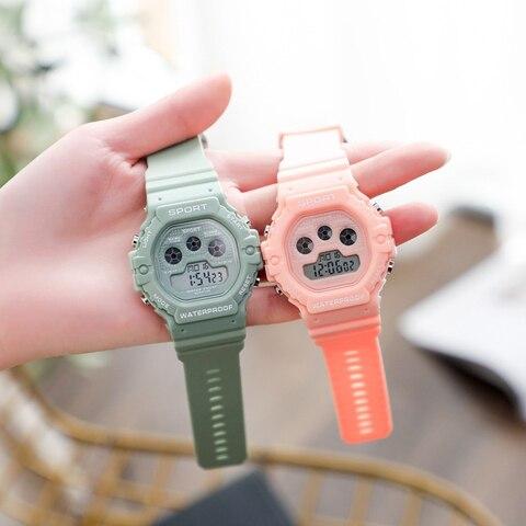 Digital para Mulheres dos Homens Relógios das Senhoras 3bar à Prova Moda Esportes Relógio Unissex Eletrônico Dladies Água Reloj Hombre Led