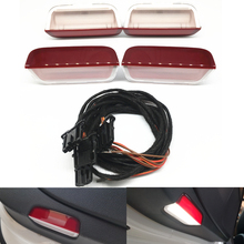 Car Led lamp LED Door Warning Light Wiring harness For vw Golf 6 MK6 PASSAT B8 B6 B7 CC Tiguan MK2 Eos Jetta 5 6 Touran Arteon