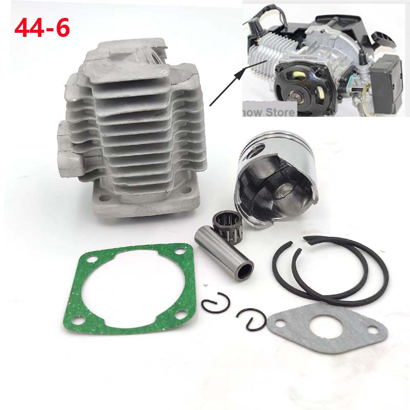 TDPRO 49cc Gas Engine 44mm Cylinder Head Set Piston for Motorized Bicycle Bike