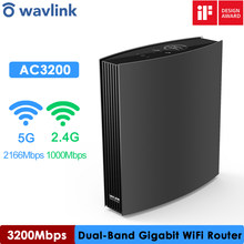Wi-Fi-маршрутизатор Wavlink, гигабитный Wi-Fi роутер Wave2, AC3200, 2,4 ГГц, 5 ГГц, Wi-Fi расширитель, Wi-Fi ретранслятор, победитель премии iF Design Award