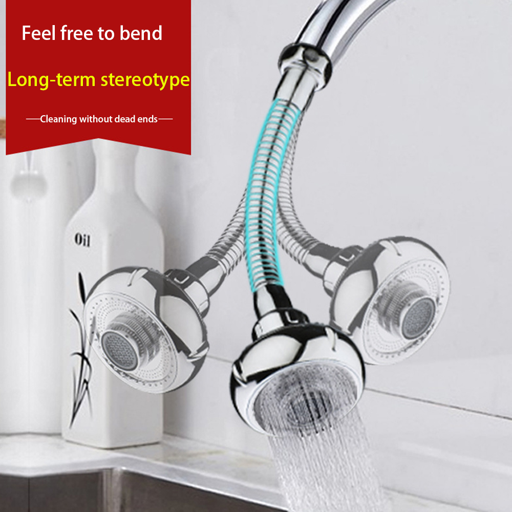360 Degree Kitchen Nozzle For Mixer For Water Saving Tap Shower Filter Two Mode Flexible Faucet Nozzle For Kitchen Water Saving