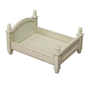 Image 2 - 4 Colors Baby Small Photography Bed New Photo Studio Photography Props Newborn Small Wooden Crib For Baby Boys Girls