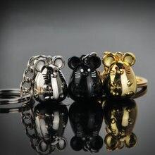 Novo chunky rato chaveiro moda trinket animal carro keyfob saco pingente chaveiro titular animal chaveiro para as mulheres presente